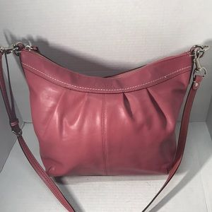 Beautiful Leather Pink Coach Bag